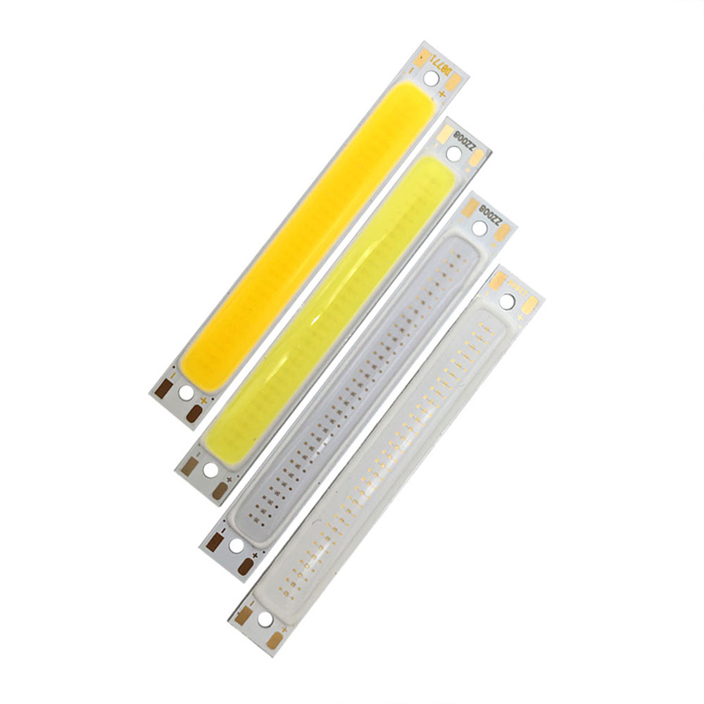 COOLEEON 60*8mm 2V 3V COB LED Bulb Light Strip 6cm Warm Cold White Blue Red Color 1W 3W 3.7V LED Lamp COB Chip For DIY Work Lamp