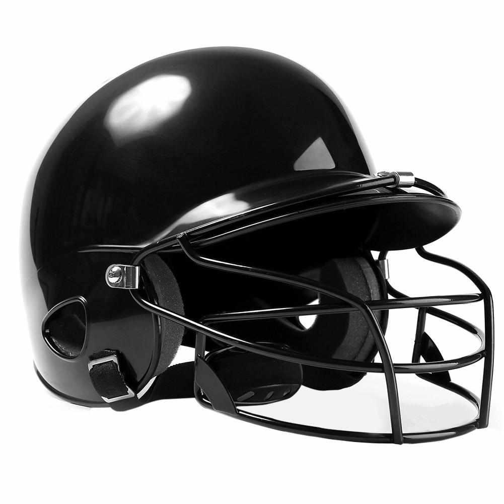 Monchain casco de béisbol Unisex orejas transpirables cara protección completa casco de seguridad de béisbol protector de cabeza-negro, rojo, azul