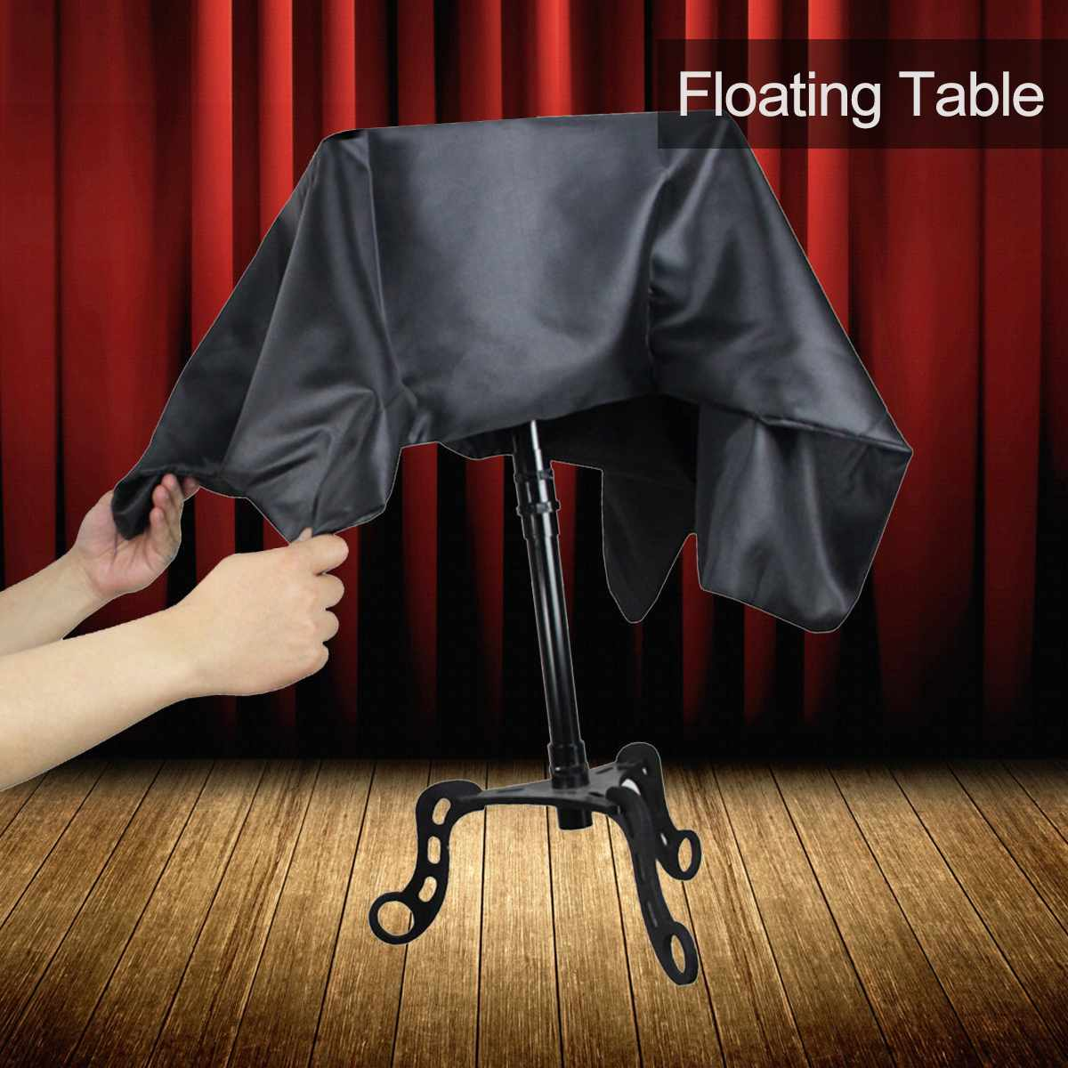 Black Floating Table Magician Levitation Trick Table Stage Magic Flying Floating Table Magic Prop Tricks Accessory Children Toy