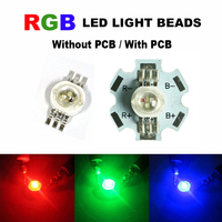 50x 100x LED Bulb Round DIY Diodes Chip SMD Lights Beads With PCB LED COB Chip RGB Wholesale Red Green Blue High Power 3W