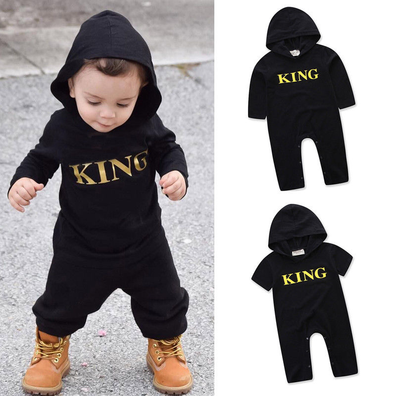 Pudcoco Boy Jumpsuits 0-24M Newborn Infant Baby Boy Kids King   Romper   Jumpsuit Clothes Outfits