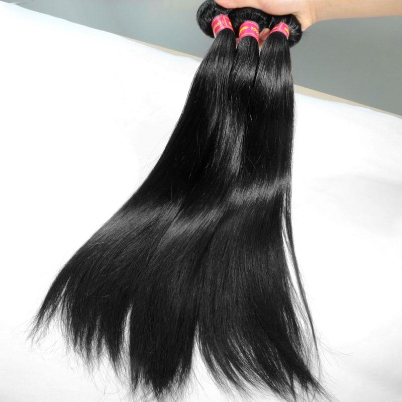 Addbeauty 30 32 34 36 38 40 pulgadas cabello brasileño Remy tejido mechones extensiones de cabello humano recto Color Natural doble dibujado - 3