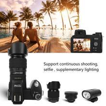 "D7200 33MP דיגיטלי מצלמה DSLR 0.5X רחב זווית עדשה + 24X טלה עדשה + LED אור 3.0 ""TFT LCD תצוגת מלא HD מצלמה"