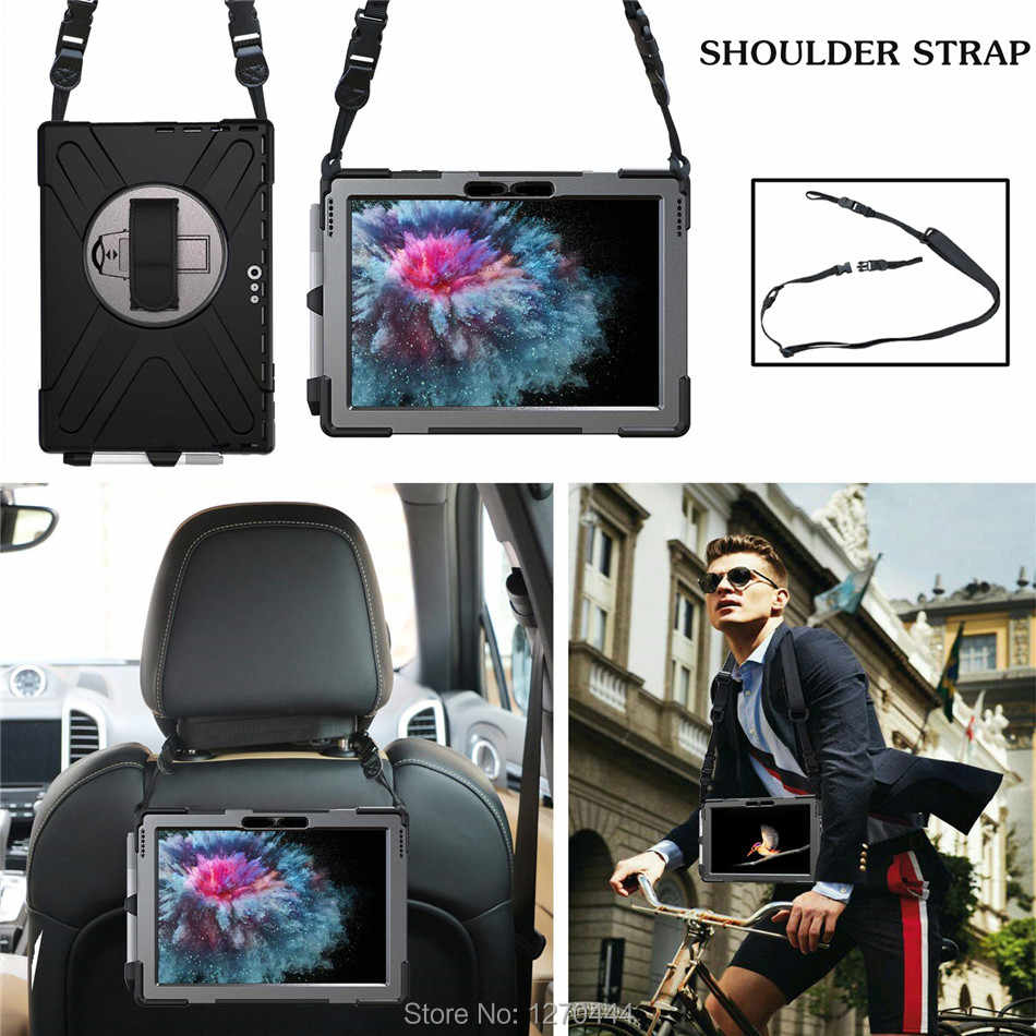 For Microsoft Surface Pro 6 12.3'' (2018) Pencil Hold for Surface Pro 4/Pro 5 Kids Safe Shockproof Armor cover Hand & Neck Strap
