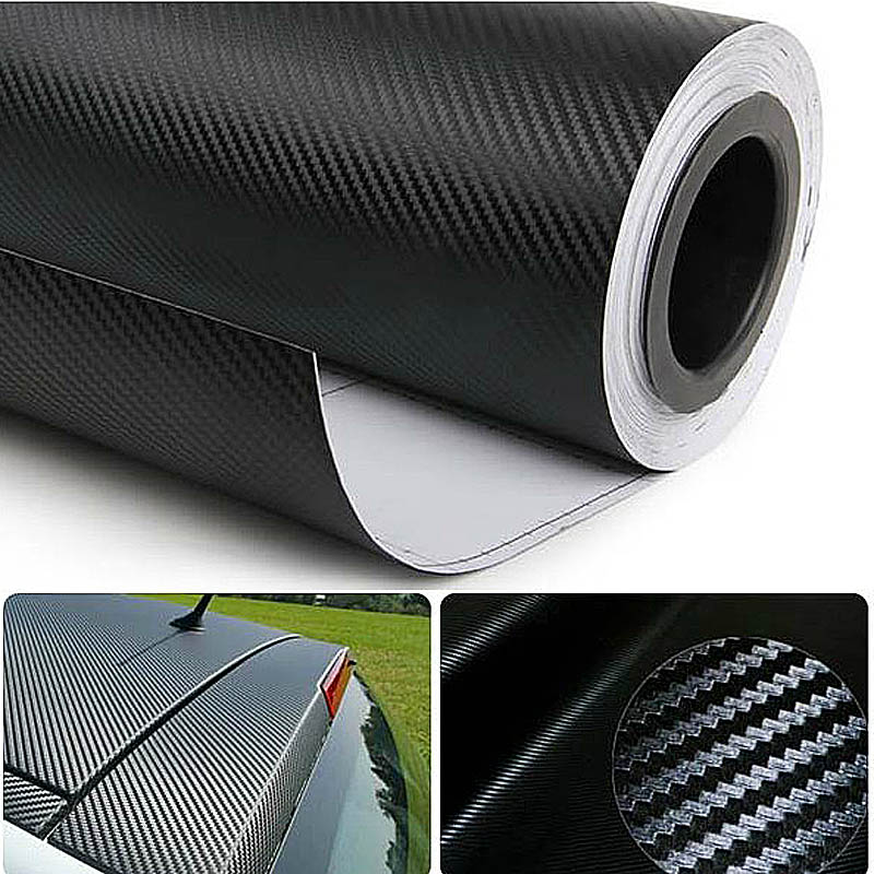 1pcs 30cm X 127cm 3D Carbon Fiber Texture Matte Self Adhesive Vinyl Sticker Car Wrap Sticker Decal Film Sheet Free Shipping(China)