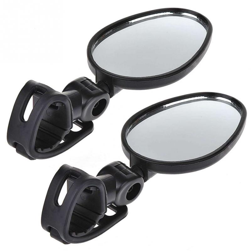 2Pcs Bicycle <font><b>Mirror</b></font> Handlebar Rearview <font><b>Mirror</b></font> Wide Angle 360 degree Rotate For Mountain <font><b>Bike</b></font> Bicycle Cycling Accessories image