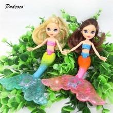 Водонепроницаемая кукла Русалочка для плавания, детская игрушка для девочек, новая игрушка для купания в бассейне, водонепроницаемые куклы Русалочки, игрушки для девочек 20 см