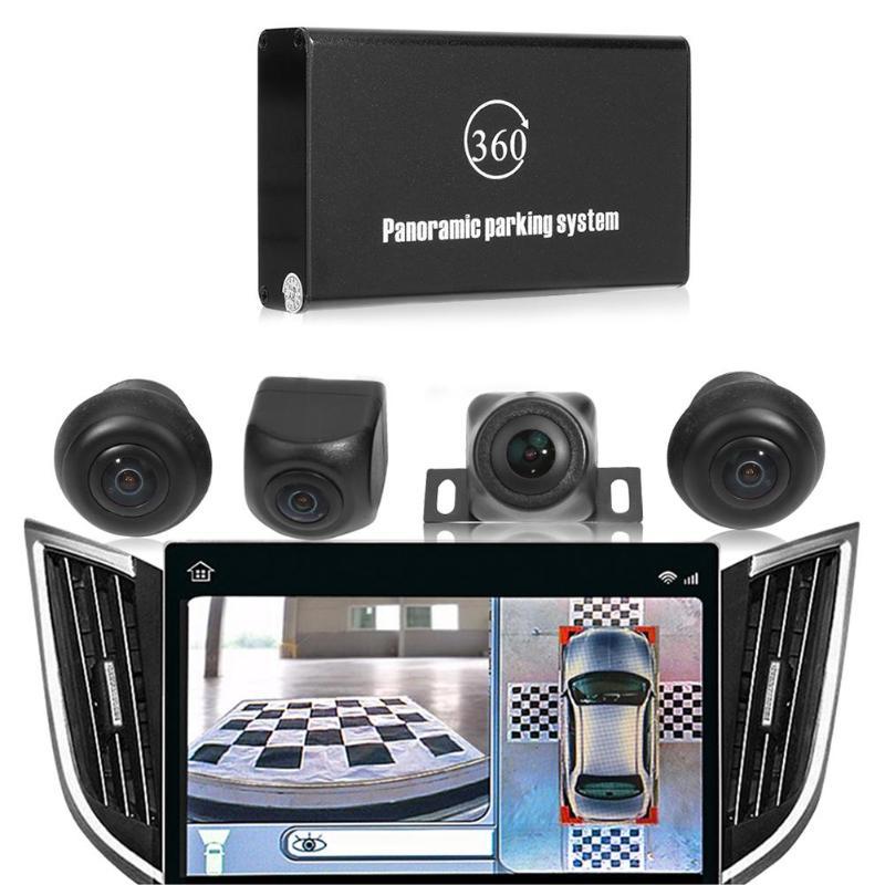 VODOOL universel 4 caméras oiseau vue Panorama système 360 degrés 720P voiture DVR enregistrement caméra de vue arrière DVR Dash Cam caméra