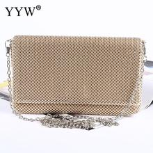 silver evening clutch night party bag woman shoulder bags and handbags full Rhinestone Stud wedding prom Bag gold day clutches цена 2017