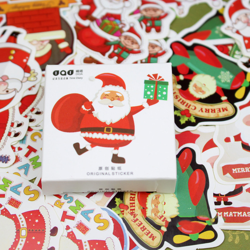 48 pcs/lot Stationery sticker Christmas packaging sticker Santa Claus Gifts, Festive Dress Up Stationery