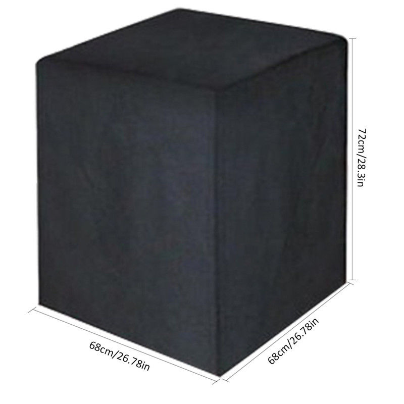 Black All-Purpose Square Waterproof BBQ Covers Outdoor Garden Barbeque Grill Protect Heavy Duty Dust Covers