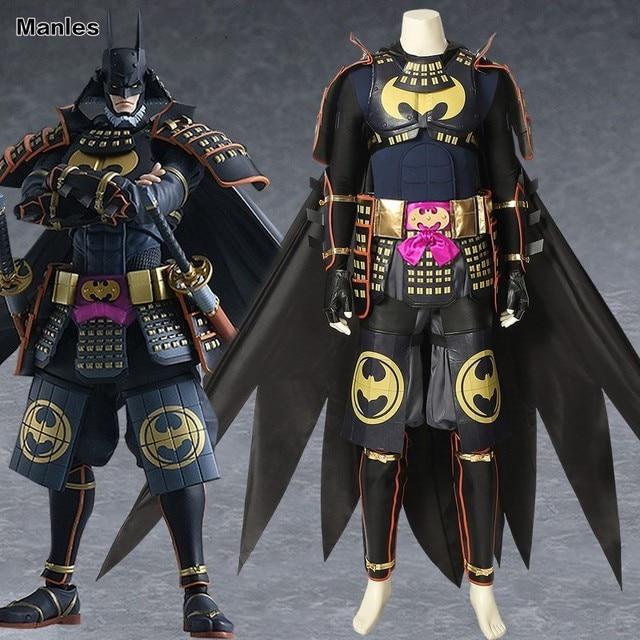 Batman Ninja Cosplay Bruce Wayne Costume Cloak Superhero Halloween Adult Customize Made Man Christmas Leather Full Set Suit Cape