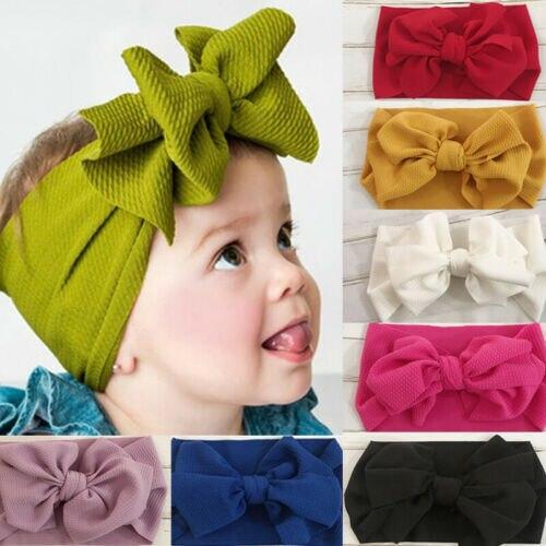 Kids Girl Baby Newborn Infant Big Bow Headband Hairband Turban Knot Head wrap