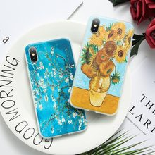KISSCASE Soft TPU Cases For Samsung Galaxy S8 S9 Plus Note 8 9 3D Van Gogh Starry Night Case Cover