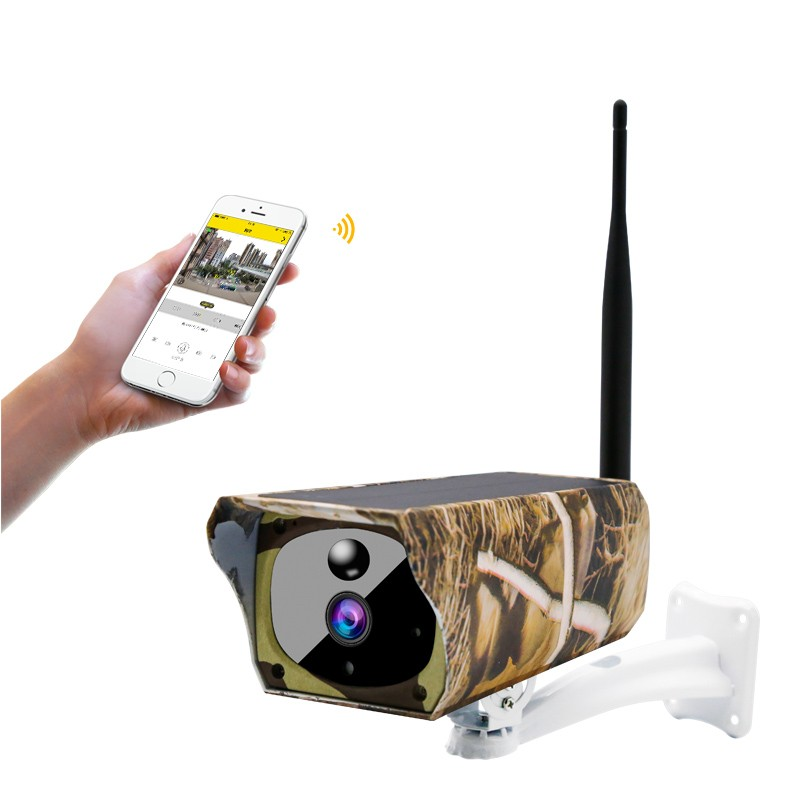 1080P Solar Powered Wireless Security Camera WIFI IP Camera Solar Panel Hunting Camera PIR Motion Mobile Phone Remote Monitor