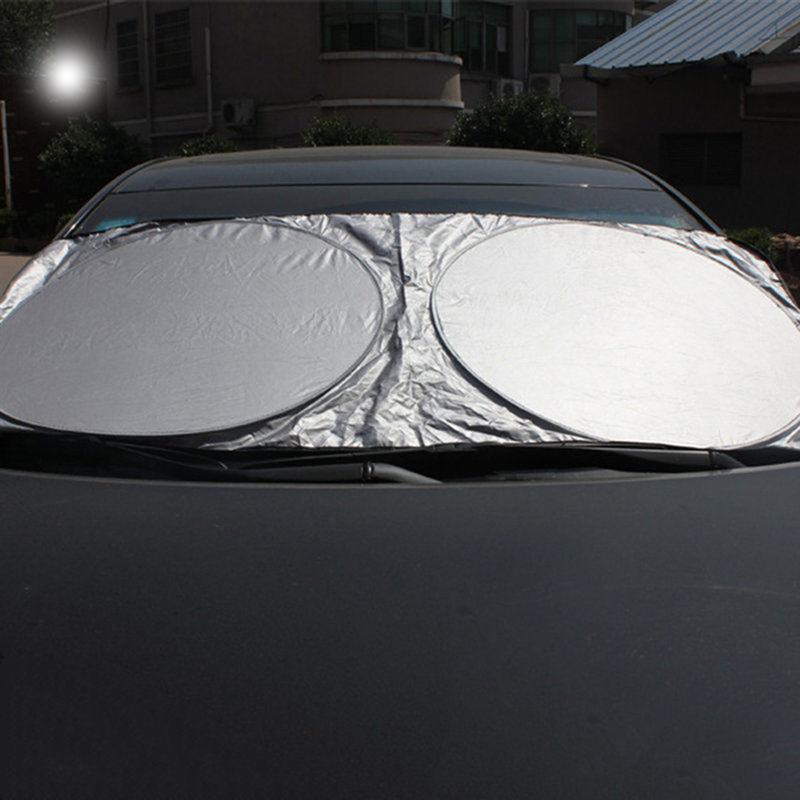 Image 4 - VORCOOL 150*70cm Car Sunshade Solar Reflective Silver Front Windowshield Sun Shade UV Rays Block Protector-in Side Window Sunshades from Automobiles & Motorcycles