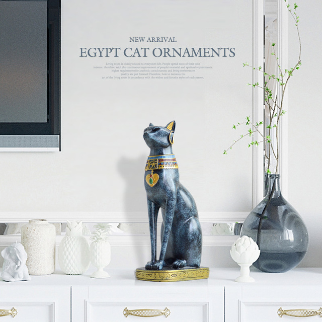 Egyptian Cat resin craft vintage home decor Modern Vintage Baster goddess god pharaoh figurine statue for table ornaments Gift 5