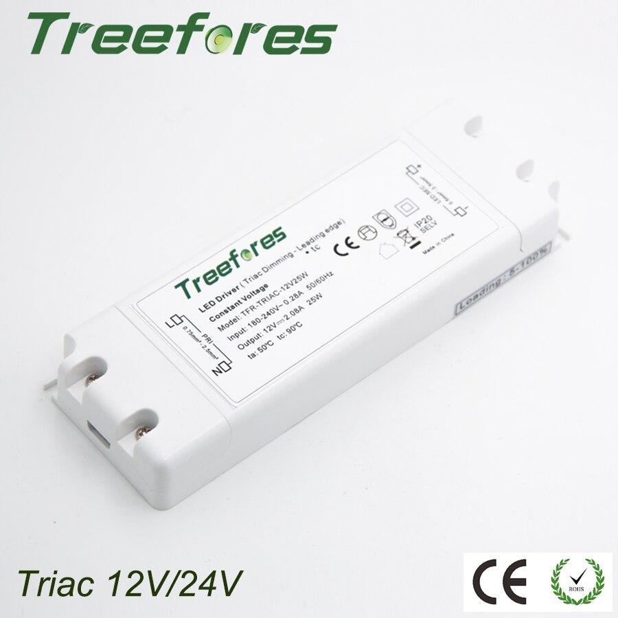 Triac 8 W 15 W 25 W 50 W 75 W Pode Ser Escurecido LED Driver do Adaptador AC 110 V 220 V 230 V 240 V PARA DC 12 V 24 V Transformador da fonte de Alimentação do Regulador