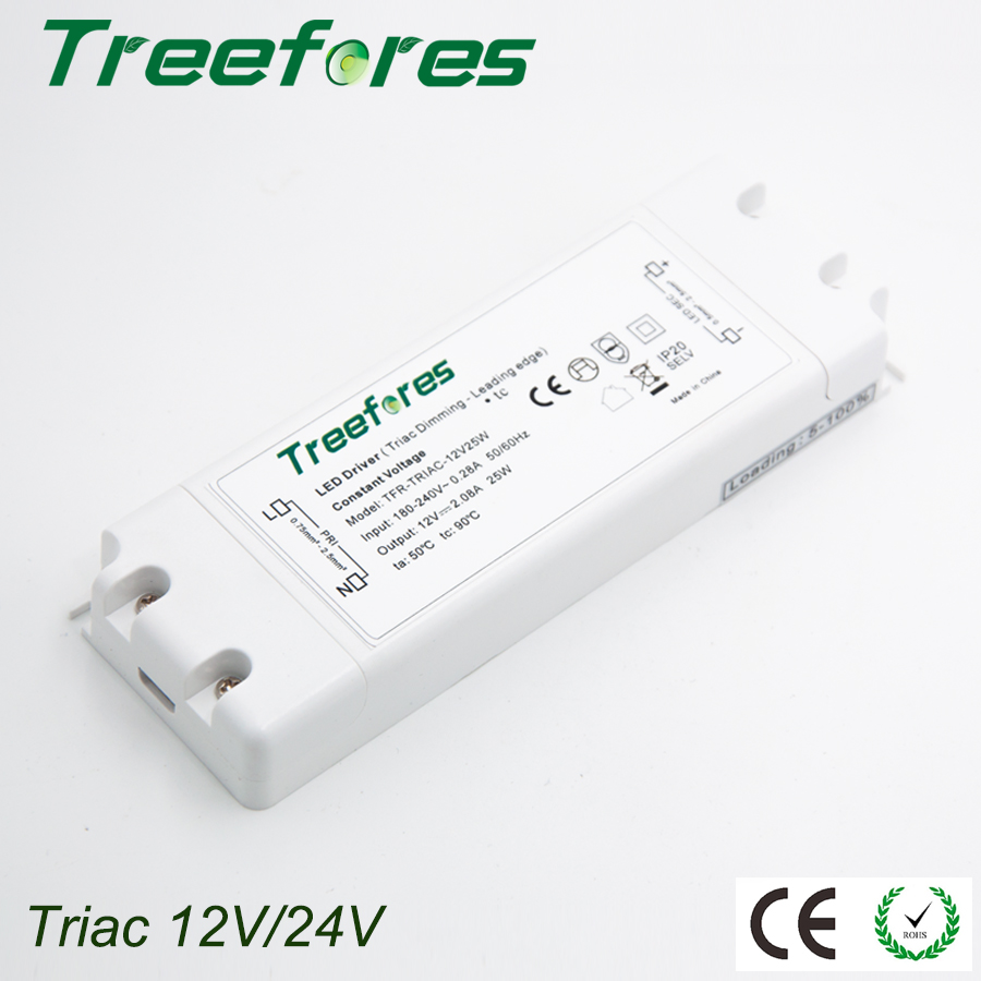 Triac 8W 15W 25W 50W 75W Dimmable LED Driver Adapter AC 110V 220V 230V 240V TO DC 12V 24V Power Supply Transformer Regulator