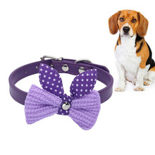 1Pc Lovely Attractive Kawaii Chic Knit Bowknot Pet Collar Choker Necklace Pet Supplies Dog Dress Up(China)
