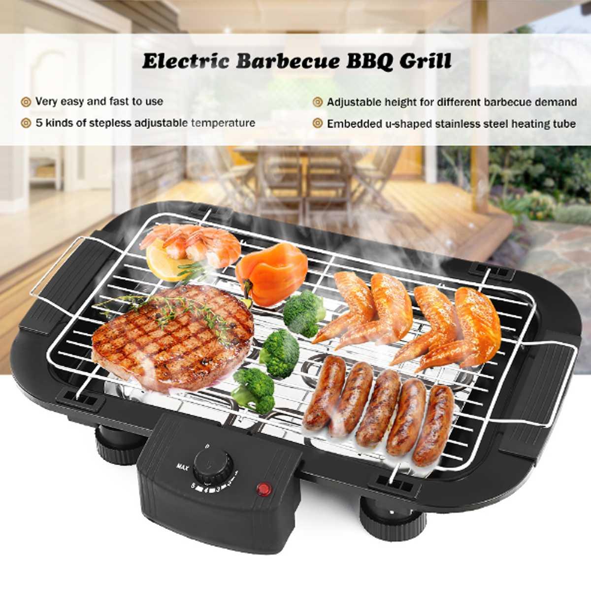 Outdoor Barbecue Sans Fumée Cuisinière Grill antiadhésif rôtissoire ronde Outils