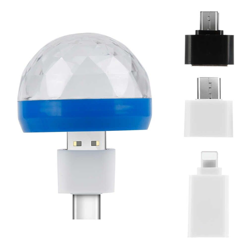 OTG USB кабель OTG адаптер Micro USB конвертер USB для мобильного телефона USB свет диско огни для huawei Android случайный цвет