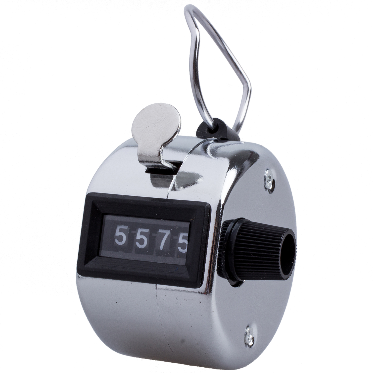 4 Digit Number Clicker Golf Hand Tally Click Counter Silver