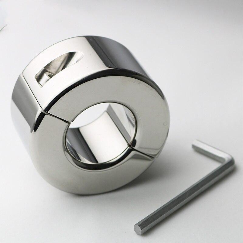 Civière en acier inoxydable poids lourd testicules civière anneau 35mm CBT fétiche Sex Toys pour hommes