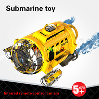 Rc Submarine Plastic Toys For Children 3 Channels Electric Camera Feeding Wireless Remote Control Boat Model Toys Free Shipping
