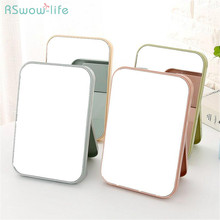 Folding Portable Large Square High List Face Makeup Mirror Desktop Vanity Decorative Mirrors For Household Products