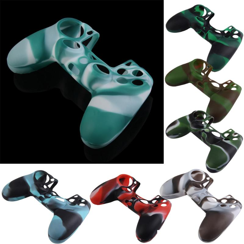 High quality Camouflage Silicone Rubber Case Skin Cover Protector for PS4 Controller game console handle accessories