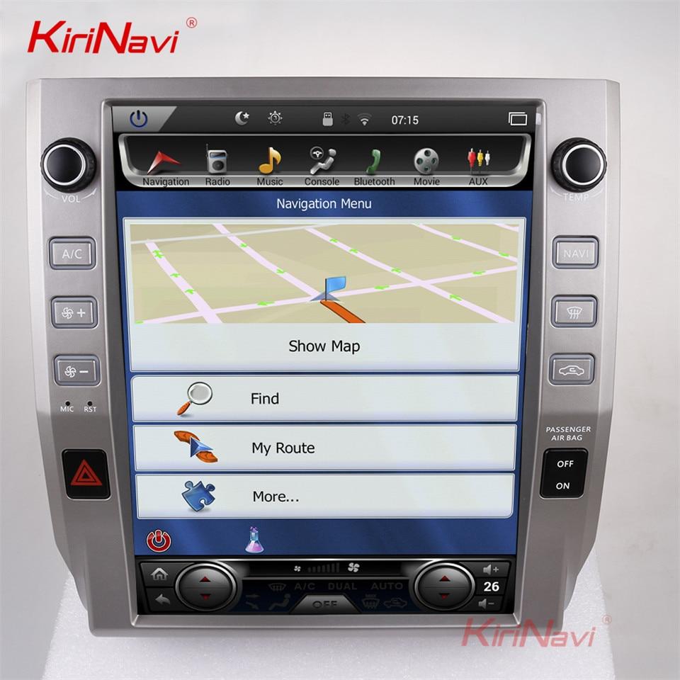 KiriNavi Verticale Dello Schermo Tesla Stile 12.1 pollice android 7.1 Touch Screen Car Radio Per Toyota Tundra Navigazione GPS Bluetooth