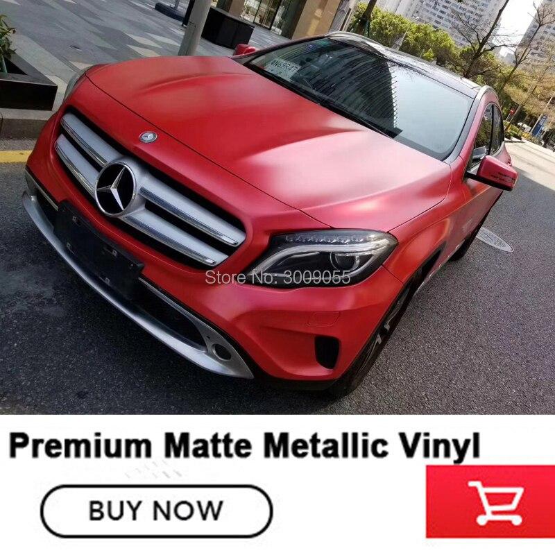 Melhor qualidade Mmatte vermelho metálico filme embrulho Vinil Envoltório Carro Bolha de Ar Livre Para Veículo para Alta-grade série