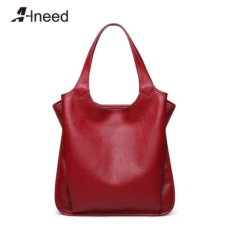 ALNEED Bags for Women 2019 Genuine Leather Large Capacity Handbags Fashion Top-Handle Bag Bolsa Feminina Casual Luxury TotesALNEED Bags for Women 2019 Genuine Leather Large Capacity Handbags Fashion Top-Handle Bag Bolsa Feminina Casual Luxury Totes
