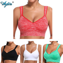 Ayliss latest 1pc High Impact Red Racerback Sport Bra Womens Wire Free Padded Cup Active Gym Tank Top