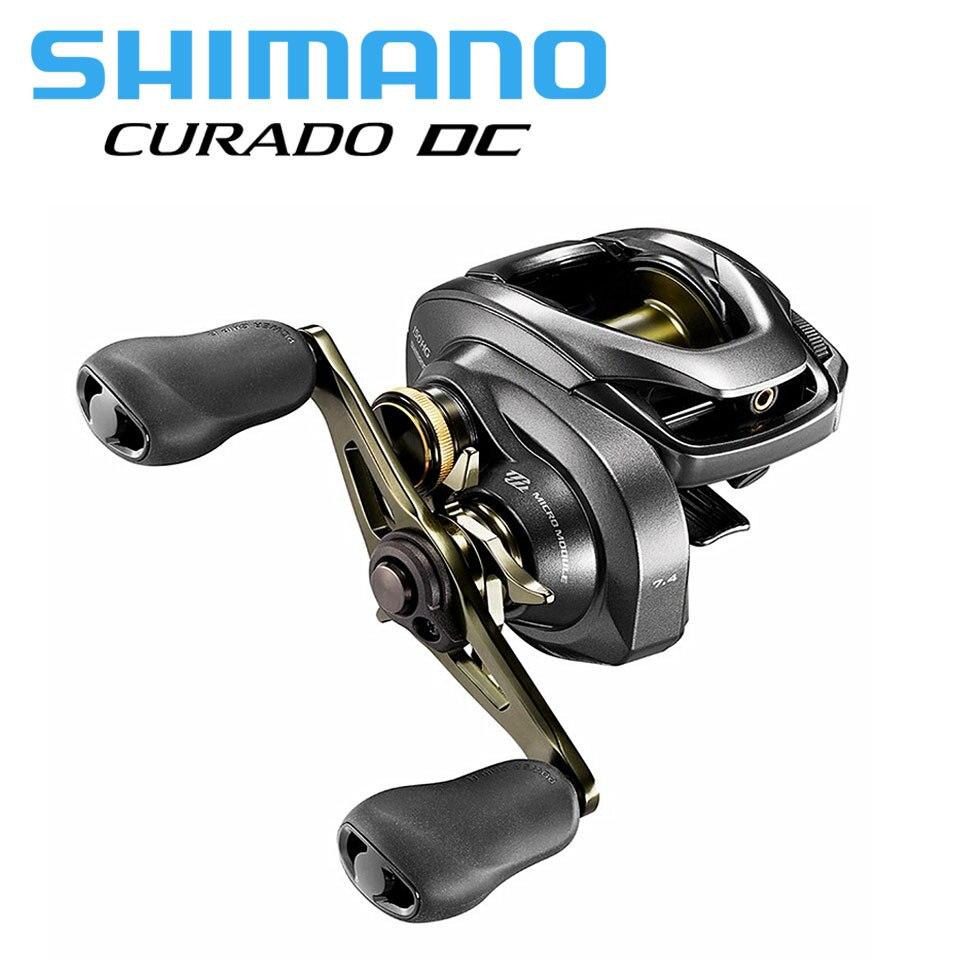 SHIMANO CURADO DC Baitcaster fishing reel 6.2: 1/7. 4:1/8.5: 1 I-DC4 6 + 1BB 5 kg de Energia Sistema de força do corpo Suave luz de arremesso
