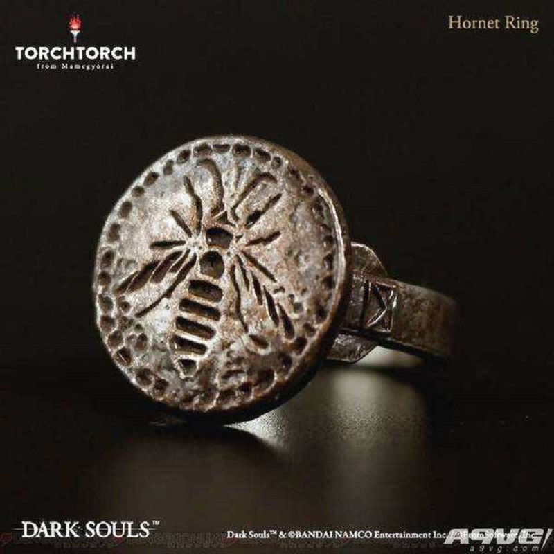 #10 Game Dark Soul 3 Rings Hornet Ring Metal Luxury Weapon Equipment Dark Soul Accessories Souvenir Halloween Party Prop