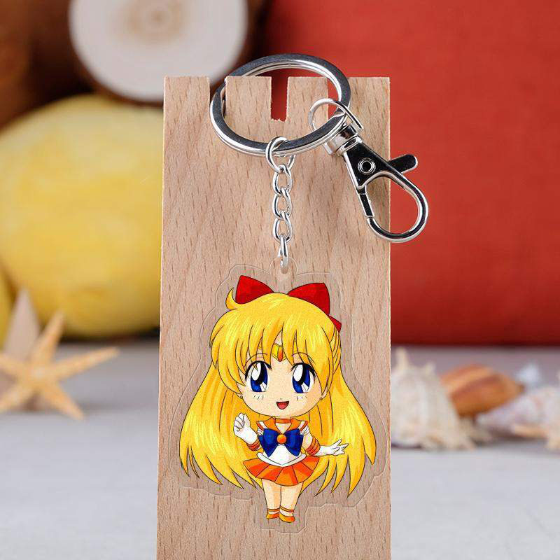 Anime Tsukino Usagi Tsukino Sailor Moon Cosplay Key Chain Ring KeyChain