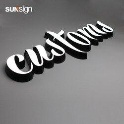 Letras luminosas led impermeables para publicidad en exteriores, letras acrílicas