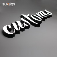Outdoor signage waterproof led luminous letters advertising acrylic letter