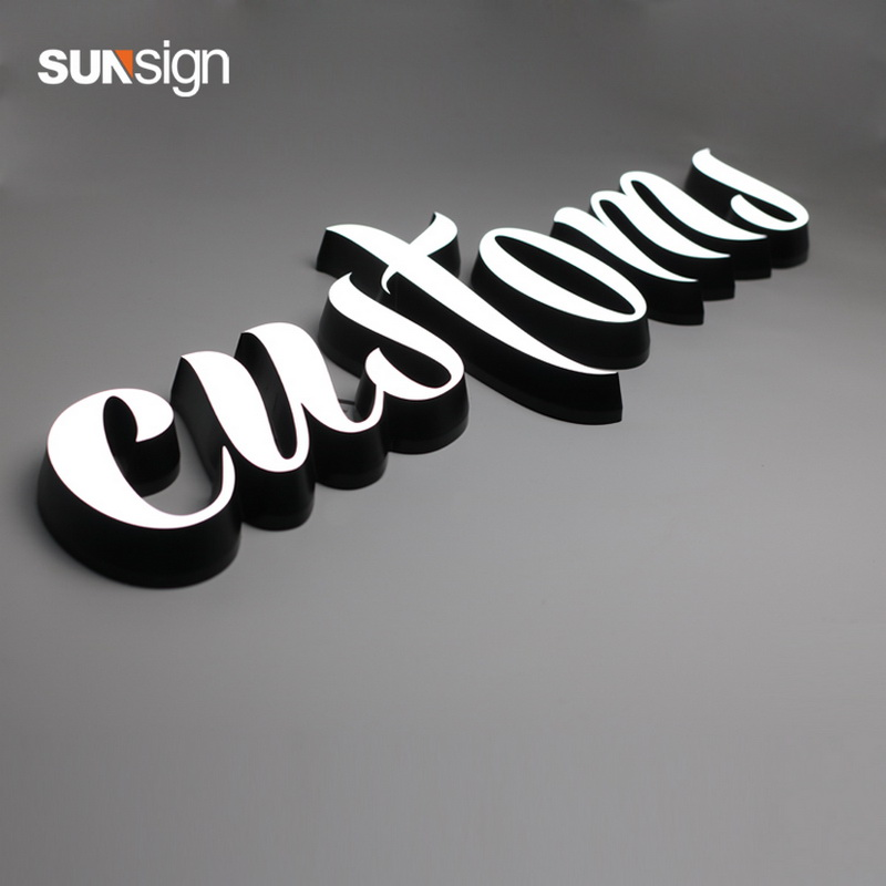 Uber Light Up Sign Waterproof Acrylic Face Lit Led Letters Illuminated Exterior Business Signage Letters