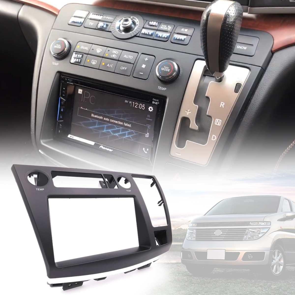 25*8*34.5 cm autoradio Facia Kit tableau de bord panneau Fascia plaque pour Nissan Elgrand (E51) 2002-2010 DVD CD panneau garniture plaque cadre Console