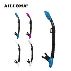 أنبوب تنفس جاف بالكامل للسباحة في الهواء الطلق AILLOMA معدات غوص للكبار تحت الماء أقنعة غوص أنبوب سباحة