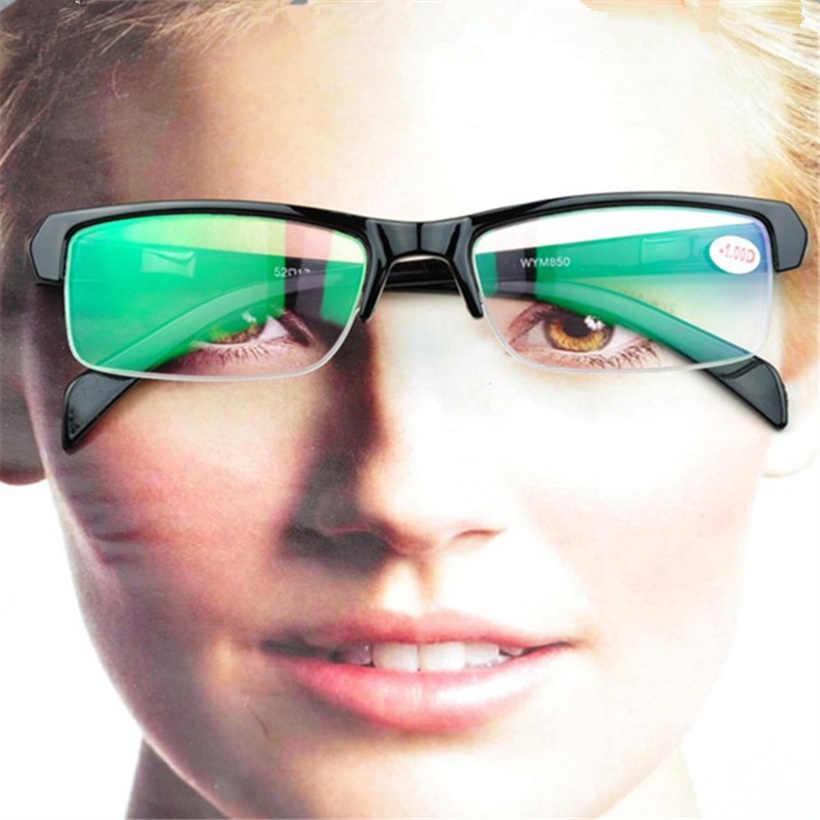 3f73fef285 High Quality Women Myopia Glasses -2.5 Half Frame HD Resin Black Frams  Prescription -1.5