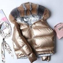 Women Winter Big Fur Collar Down Parka Waterproof 90% White Duck Down Jacket Warm Loose Down Coat Casual Thicken Outerwear PJ349 цены онлайн