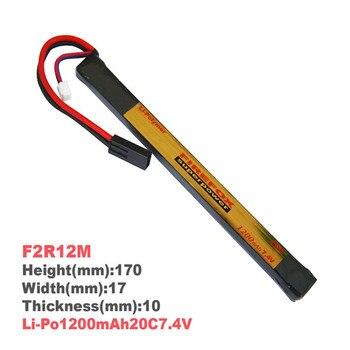 1pcs 100% Orginal FireFox 7.4V 1200mAh 20C Li Po AEG Battery 170mm x 17mm F2R12M Rechargeable Batteries