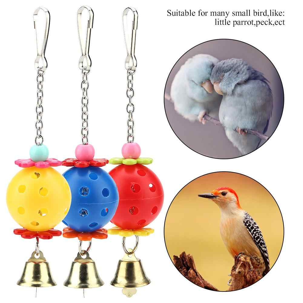 Pet Parrot Climb Bites Chew Toy Hanging Swing Cage with Bell for Parrots Cockatiel Bird Supplies