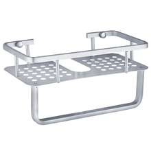 Space Aluminum Bathroom Shelf Shower Shampoo Soap Cosmetic Shelves Accessories Storage Organizer Rack Holder