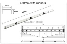 18inch 450mm Router Table Replacement Miter Guage Bar Miter Slider Table Saw Miter Slot Jig Bar цены
