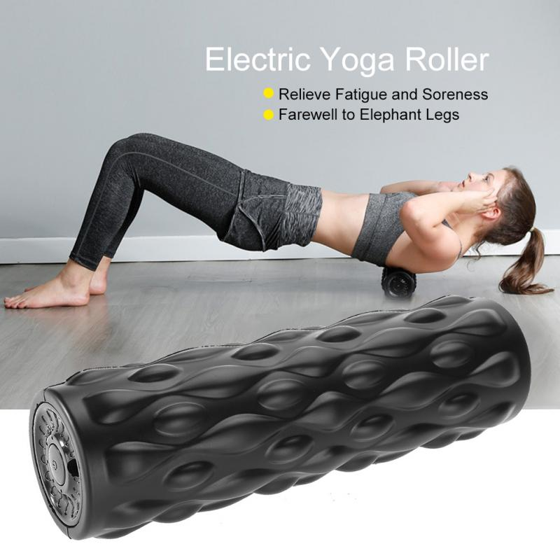 Yoga Massage High Intensity Foam Roller Muscle Relax Massage Tool with Back Bag Black